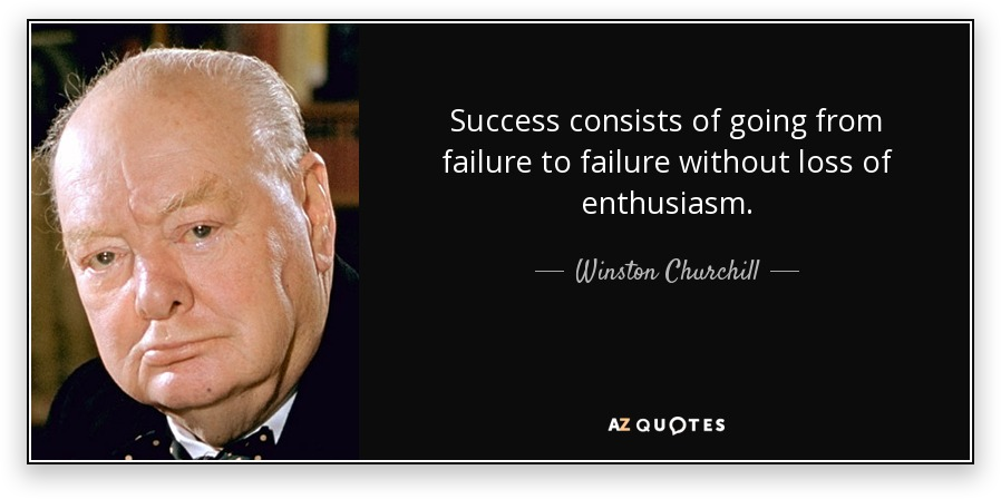 Winston Churchill Quote - Startup Failure Rate