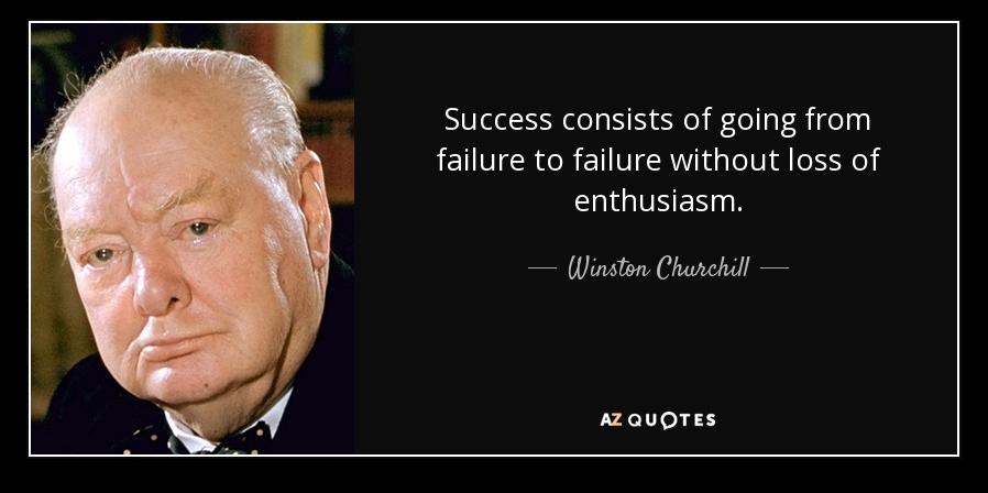 Winston Churchill Quote - Startup Failure Rate